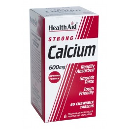 Calcium Strong 600mg Chewable 60 tabs Μέταλλα